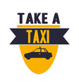 take a taxi vector image