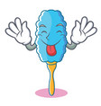 tongue out feather duster character cartoon vector image vector image