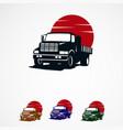 truck sun logo template designs for company vector image
