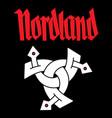 viking scandinavian design triple horn odin vector image vector image
