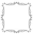 Vintage frame decoration vector image vector image