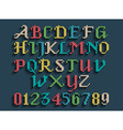 Vintage knitted alphabet vector image vector image