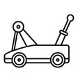 warehouse jack-screw icon outline style vector image vector image