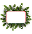 white christmas background with spruce branches vector image vector image