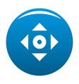 cursor displacement app icon blue vector image
