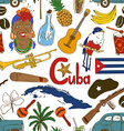 Sketch Cuban seamless pattern vector image