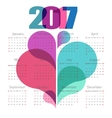 Abstract calendar 2017 with colorful shapes vector image