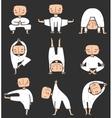 Man doing Yoga Asana Collection vector image
