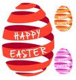 3d ribbon easter eggs vector image vector image