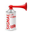 air horn for rescue sos or sports signals