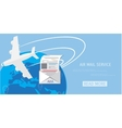 air mail service web icon vector image