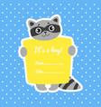 baboy shower invitation template on blue polka vector image vector image