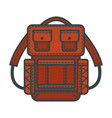 backpacks or rucksack flat icon vector image