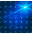 Blue technology background with particles vector image