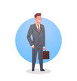 business man icon boss team leader occupation vector image