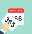Calendar style flat leap year 366 days Calendars vector image