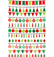 Christmas buntings and garlands vector image vector image
