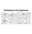 christmas coloring book set vector image vector image