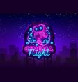 Cinema night neon logo movie night neon