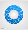 circle of app icons vector image vector image