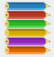 color pencils in flat style vector image vector image