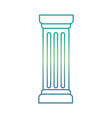 column pillar isolated icon vector image vector image