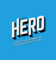 comics hero style font vector image vector image