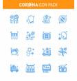 Coronavirus awareness icon 16 blue icons icon