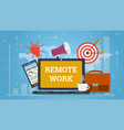 design of laptop for remote work vector image vector image
