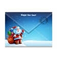 Envelope with letter picture of Santa Claus vector image