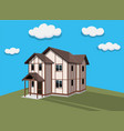 exterior of the house a modern vector image