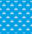 fitness bag pattern seamless blue vector image vector image
