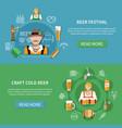 flat beer banners set vector image