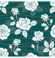 garden roses summer seamless pattern vector image vector image