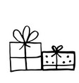 gift boxes set hand drawn vector image vector image