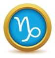 Gold Capricorn icon vector image vector image