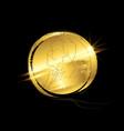 golden coin man with beard nobel prize icon vector image