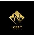 Golden N letter vector image vector image