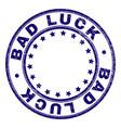 grunge textured bad luck round stamp seal