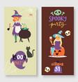halloween party banners vector image