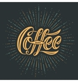 Hand-drawn lettering with text Coffee Black vector image vector image