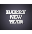 Happy new year Paper style vector image vector image
