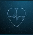 heartbeat medical polygonal symbol low poly heart vector image