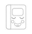 kawaii notebook school cartoon character vector image