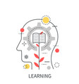 learning mind education concept isolated on the vector image vector image