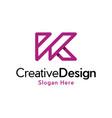 letter k outline creative business modern logo vector image vector image
