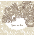 light vintage floral pattern with place for your t vector image vector image