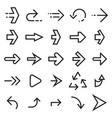 linear arrow icons vector image