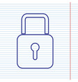 lock sign navy line icon on vector image vector image