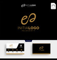 luxury gold initial e logo template and business vector image vector image